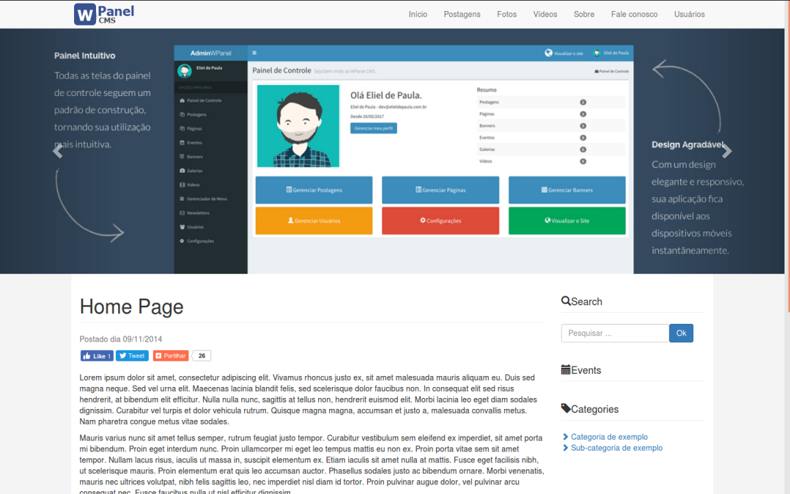Release do Wpanel CMS 3.1.2